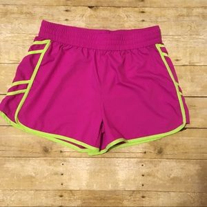 Shorts, quick  dry fabric, bright neon colots